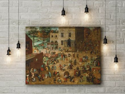 Pieter Bruegel the Elder: Children's Games. Fine Art Canvas.